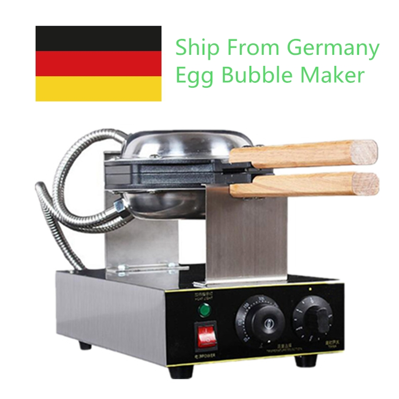 110V 220V Commercial Electric Egg Bubble Waffle Maker Machine Eggettes Puff Cake Iron Maker Machine Bubble Egg Cake Oven 26 nanjing province specialty wheat cake gold flower cake sesame cake fuling horseshoe crisp cake optional