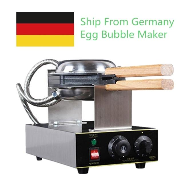 110V 220V Commercial Electric Egg Bubble Waffle Maker Machine Eggettes Puff Cake Iron Maker Machine Bubble Egg Cake Oven