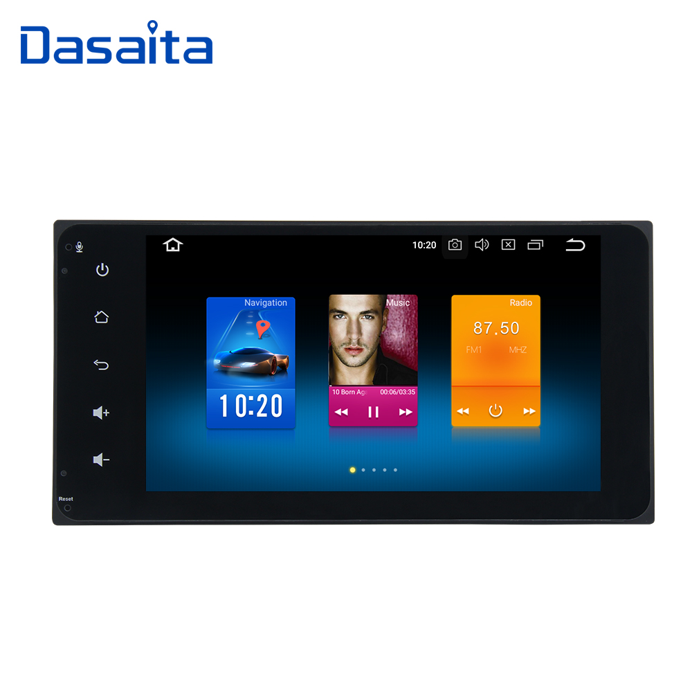 Dasaita 7 Android 8.0 Voiture GPS Lecteur Radio pour Toyota Corolla Camry Prado RAV4 Hilux avec Octa Core 4 gb + 32 gb Multimédia Automatique