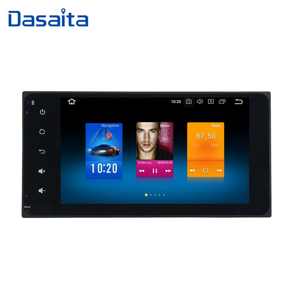 Dasaita 7 Android 8.0 Voiture GPS Radio Player pour Toyota Corolla Camry Prado RAV4 Hilux avec Octa Core 4 gb + 32 gb Auto Multimédia