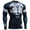 3D Full Compressão Camisetas Apertadas das Impressões Homem Excise & Fitness Mangas Compridas Top Camisa MMA Crossfit