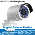Хик IP Камера 4MP DS-2CD2042WD-I 4 мм ip-камера wifi 4MP Безопасности ip-камера POE Английская Версия Камеры Наблюдения
