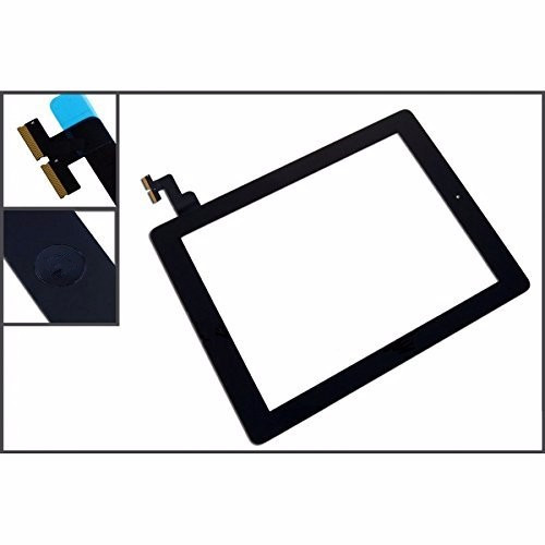#5 Pack#For IPAD 2 white/black Digitizer Touch Screen Front Display Glass Assembly - Includes Home Button and flex + Camera Hol