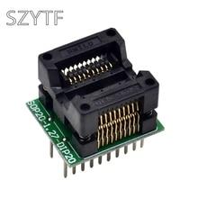 Высокое качество Чип программист SOP20+ 5 1,27 широкий корпус SOP8 адаптер гнездо к DIP20