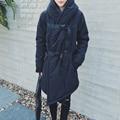 Winter new men coat hooded casual padded jacket fashion warm men clothing long strap thicken jacket men parkas D3