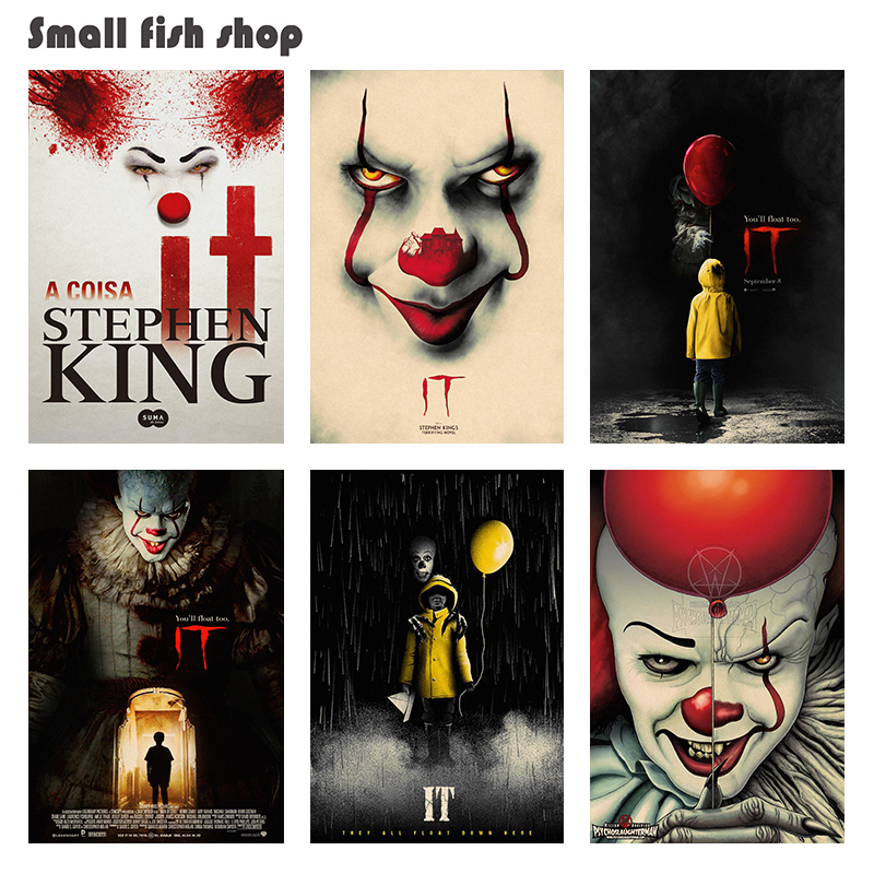 Stephen Kings It Home Furnishing decoration Kraft Movie Poster Drawing core Wall stickers