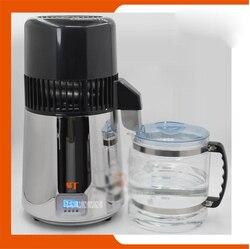 220 V/110 V domu na wysokim poziomie cichy chłodzony powietrzem 750 W czterech pokoleń ciekłych kryształów  ze stali nierdzewnej maszynka do wody destylowanej 4L|Dyspozytory wody|AGD -