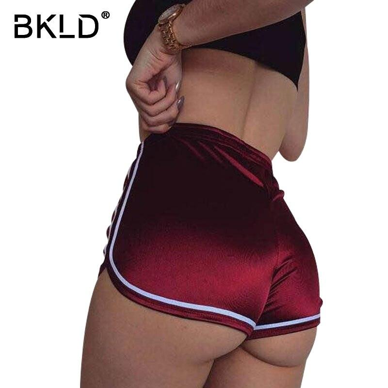 BKLD New Arrival Women Elastic Shorts Fashion Sexy Skinny Bodycon Workout High Waisted Shorts Feminino 2017 Summer Casual Shorts