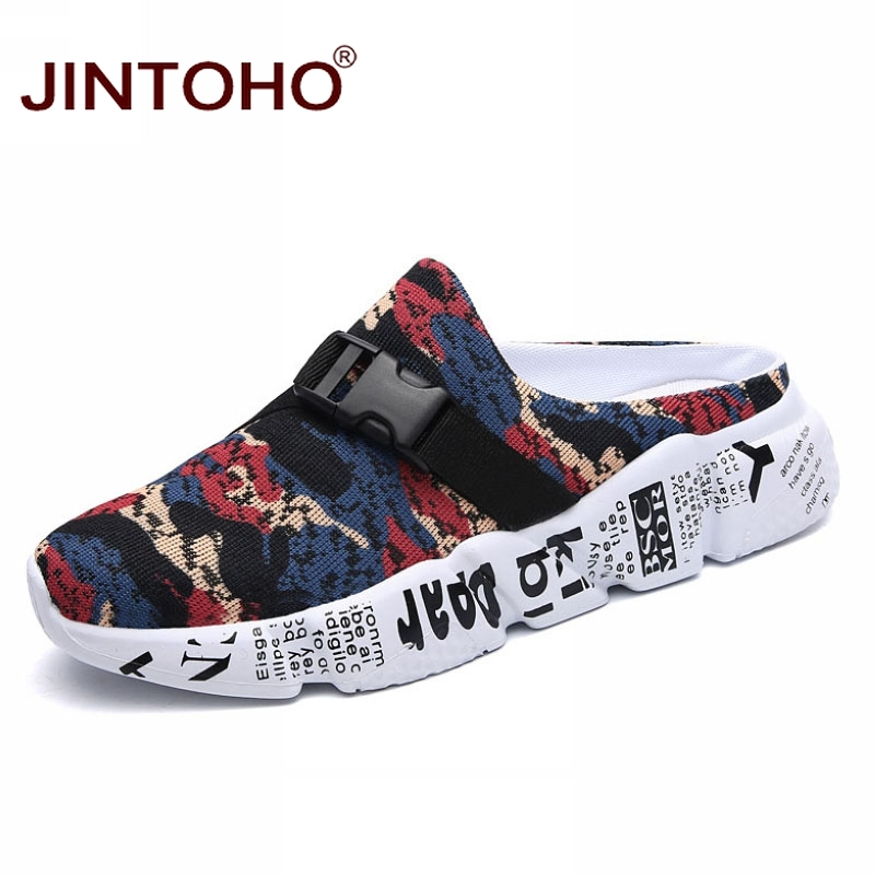 JINTOHO Men Slippers Casual Fashion Summer for Breathable Beach-Shoes Male