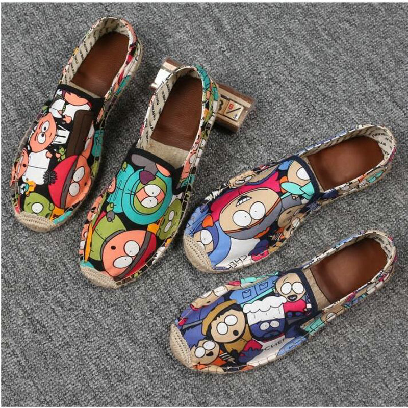 Women Casual canvas Shoes cartoon Linen Girl Espadrille Fisherman Shoes Ladies Flats Plimsolls Loafers driving shoes LF-5050 4