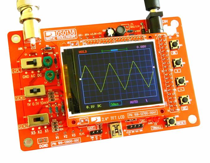 DSO138 kit de production de bricolage de technologie électronique d'oscilloscope numérique de poche