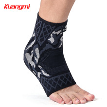 Kuangmi 1 PC Elastic Ankle Protector WarAnti Fatigue Compression Foot Sleeve Running Cycling Basketball Gym Brace Support