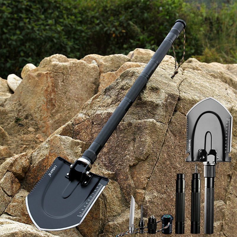 Multi functional Engineering Shovel Garden Tools Folding Military Shovel Camping Self defense Tools with a Free Bag-in Spade & Shovel from Tools    2