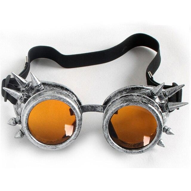 d092b6f16b C.F.GOGGLE Hot Cool Men Women Welding Goggles Unisex Gothic Steampunk  Cosplay Antique Spikes Vintage Victorian Glasses Eyewear