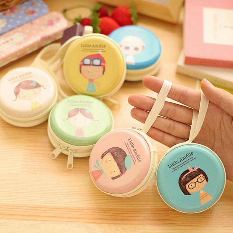 1 Lot=10pc Beautiful Lovely Round Tin Box Purse/ Key Cases/Steel Mini Pouch/Small Wallets/ Storage Case/Bags Children Gift SJ168