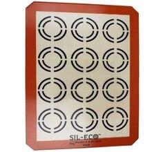 Silikon Backmatte Backformen Silikon Backmatte Macarons Backenwerkzeuge Halbblattgröße 420x295mm Wiederverwendbare Nicht-stick Oberfläche