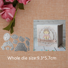 New Design Craft Metal Cutting Dies  Cute Sleeping Angel Child Scrapbooking Album Paper Card Craft Embossing Die Cuts 9.3*5.7CM лезвие haupa 210696 2