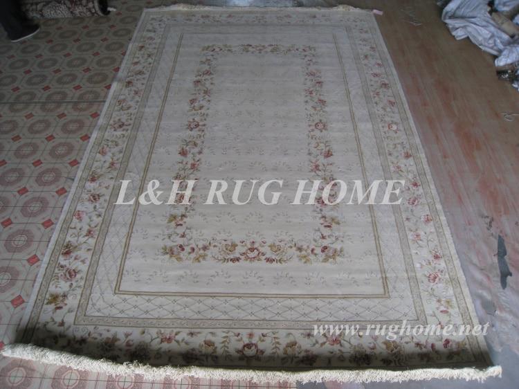 Livraison gratuite 6.56 'X9. 85' 160 ligne tapis persan noué à la main, laine et soie tapis persan, chaîne de soie