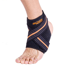 1pcs Pressurizable Bandage Football Basketball Ankle Guard Protection Anti Sprain Breathable Adjustable Ankle Support Brace Pad 1pcs ankle support brace stirrup sprain stabilizer guard ankle sprain aluminum splint