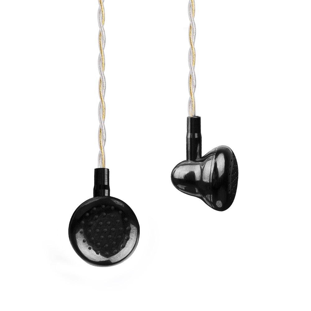 Newest K's Earphone Black Ling Brass Cavirt Metal Earbud HIFI Fever DJ Bass Earphone 14.5mm Dynamic Driver Earbuds With Mic