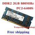 Garantía de por vida para Elpida DDR2 2 GB 4 GB 800 MHz Laptop pc2-6400 auténtica y Original ddr 2 2 G portátil de memoria RAM del ordenador portátil 200PIN SODIMM