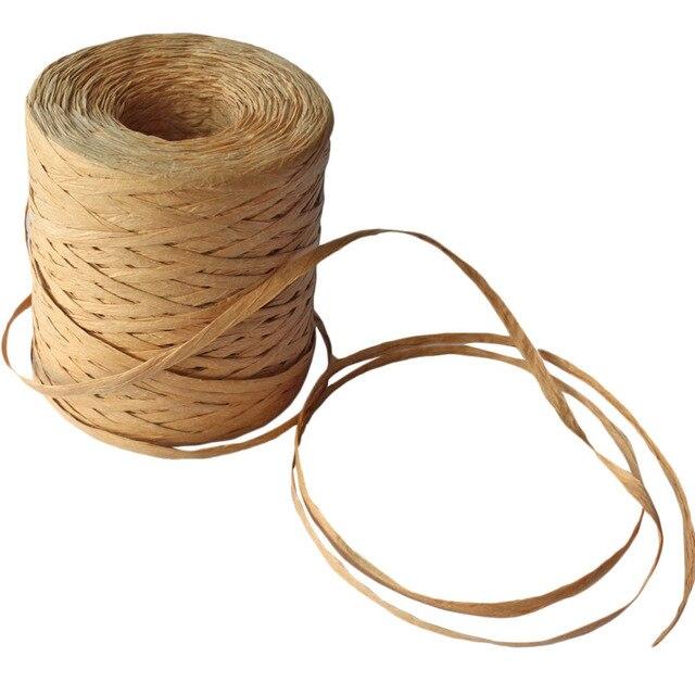 Рафия Бумага Craft лента Природный Бумага веревка, шпагат подарочная упаковка rafia raphia для вечерние подарки украшение, 218 м/200 м Kraft