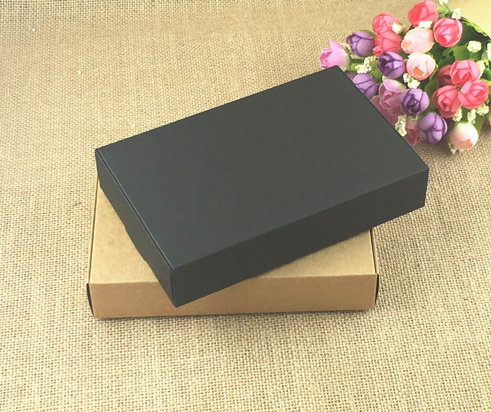 Gift Small Paper Handmade Packaging Biscuits Soap 50pcs Box Jewelry Box Brown Boxes For Kraft Pack Party Lot Wedding Candy Craft