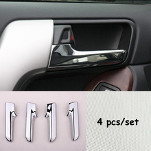 For Toyota Land Cruiser Prado 2010-2017 ABS Chrome Car inner door handle protector frame Cover Trim Car Styling Accessories 4pcs lapetus roof air ac outlet vent frame cover trim for toyota land cruiser prado fj150 2011 2020 auto styling abs pearl chrome