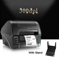 C168(300dpi) transfer label & adhesive sticker printer support washing label and serial in phone box,label printer with stand