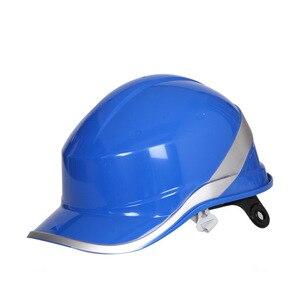 Image 4 - Casco di sicurezza Tappo di Lavoro ABS Materiale di Isolamento Con Riflettente Della Banda Cappello Duro Costruzione Sito Isolante Caschi di Protezione