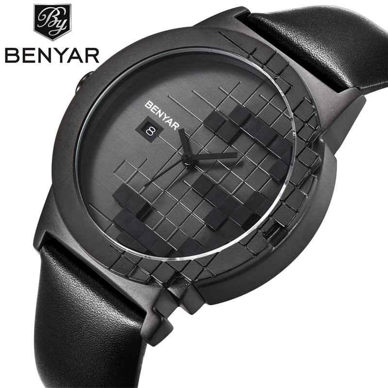 BENYAR Brand Luxury Quartz Dress Watch Women Waterproof Leather Fashion Youth Ladies Casual Watches Relogio Feminino Bayan Saat cartoon gold horse print blue leather strap sports ladies quartz watch relojes hombre 2017 bayan saat women watches hodinky b133