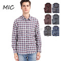100% Cotton Men's shirt Brand plaid thick shirts Casual shirts men Cotton sanded Flannel shirt for men 10 colors
