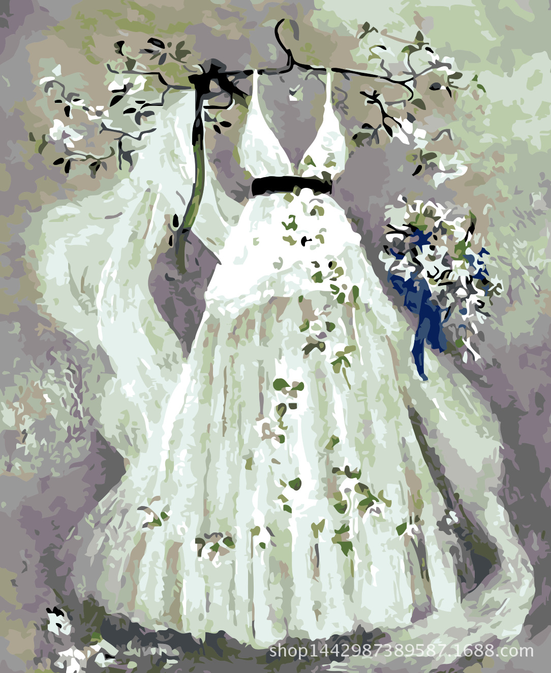 Product Namea Dream Wedding Dress Size 40 50cm Modity Accessories Acrylic Paint Brush 3 Hook Drawings: Abstract Art Wedding Dress At Websimilar.org