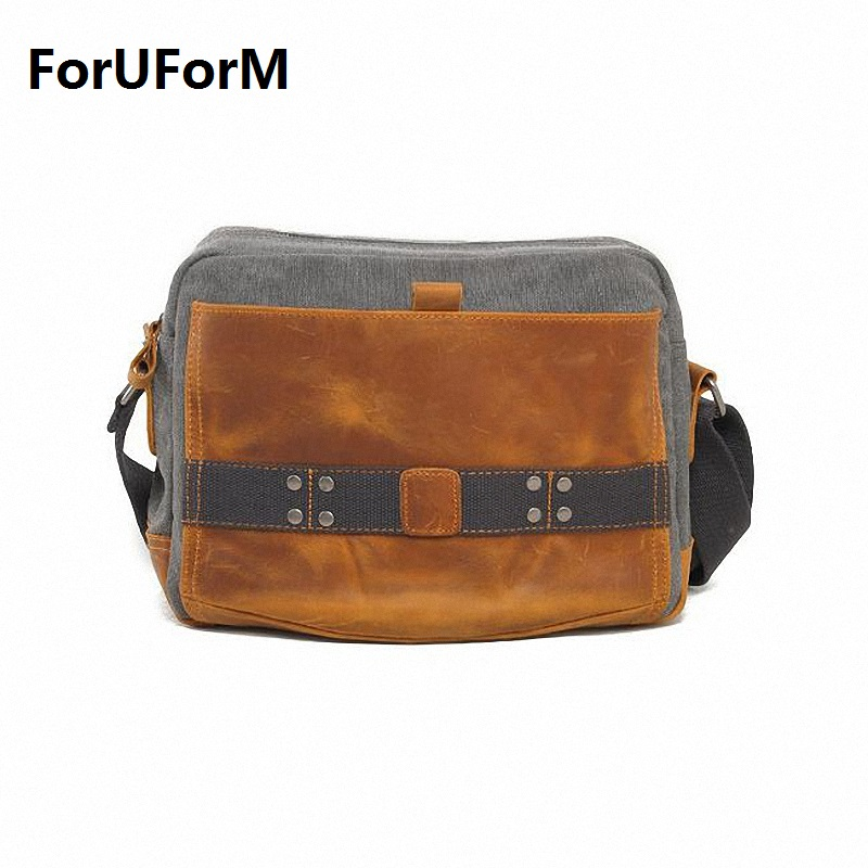 2017 NEW Vintage fashion men canvas messenger bags Casual shoulder bag men travel bags messenger bag LI-1044 aosbos fashion portable insulated canvas lunch bag thermal food picnic lunch bags for women kids men cooler lunch box bag tote