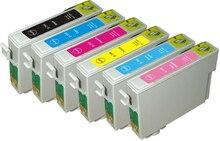 T0791 картридж с чернилами для Epson Stylus Photo PX660 P50 PX650 PX700W PX710W PX720WD PX730WD 1500 1400 1410 принтер T0791- T0796