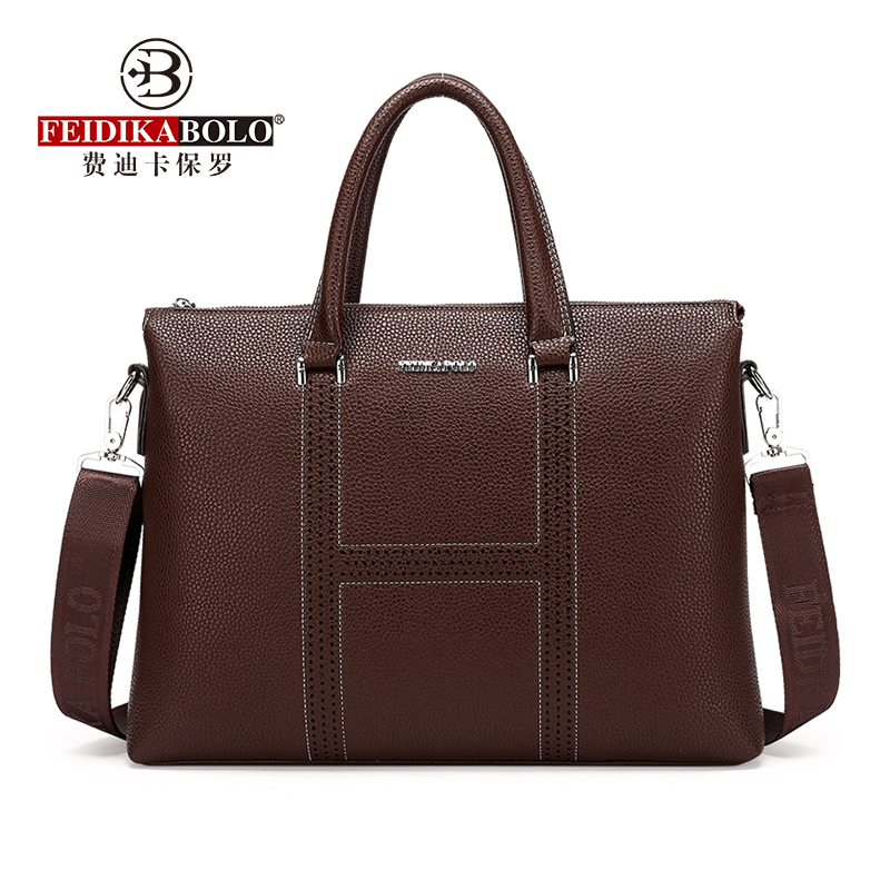 FEIDIKABOLO New Simple Design Man Handbag Soft Leather Brand Men Messenger Bags Business Laptop Bag Men's Briefcase Sac Homme