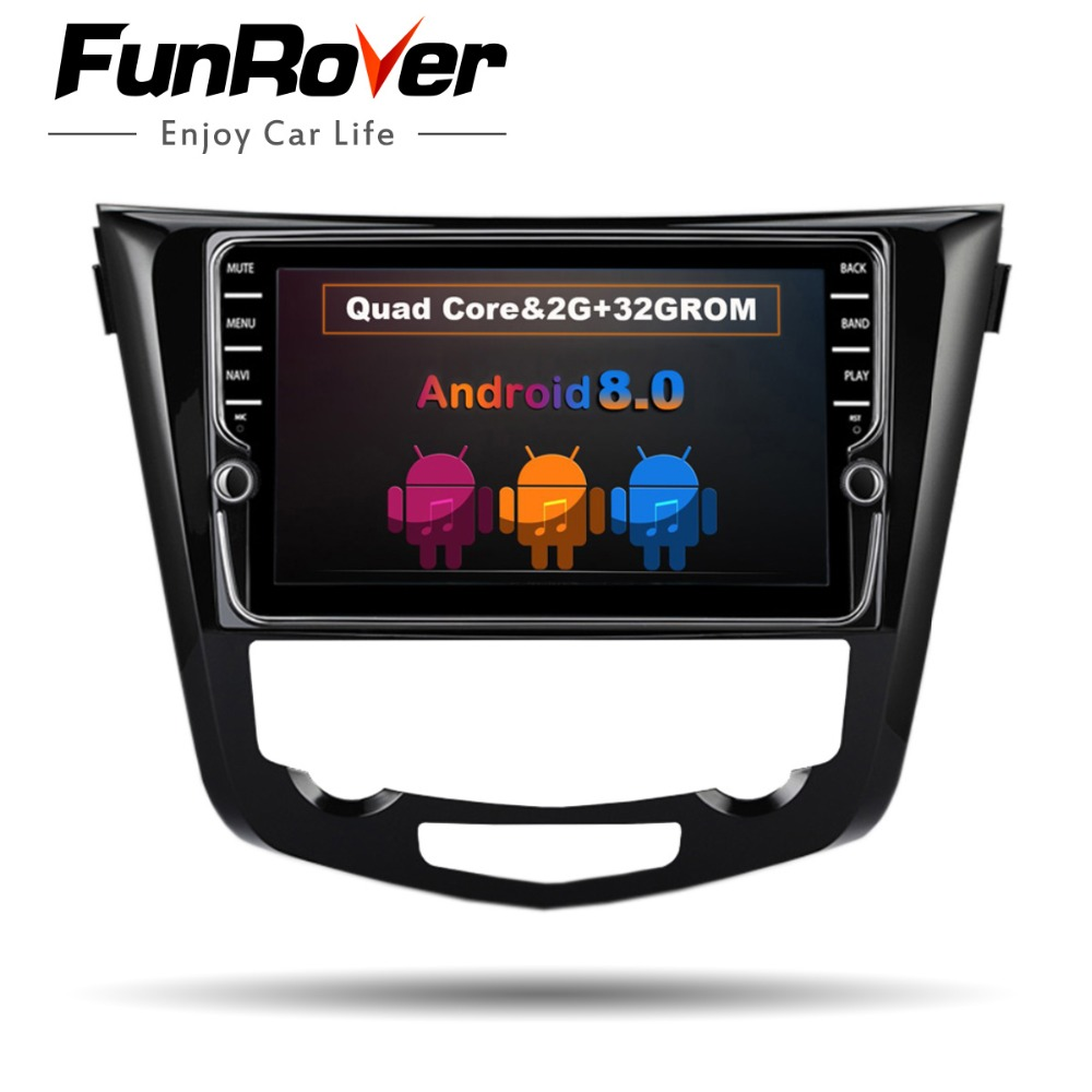 Funrover 9 ''Voiture dvd Multimédia Radio Player pour Nissan X-trail Qashqai 2014-2017 Auto Stéréo navigation GPS wifi audio Aucun dvd