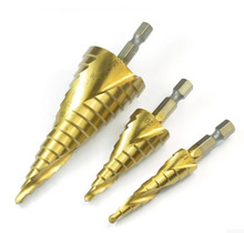 G 3 шт. метрическая спираль флейта HHS4241 шестигранным хвостовиком с титановым покрытием шаг сверло указан древесины пластичного металла отверстия бурового инструмента T