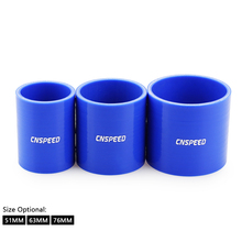 """CNSPEED Universal 2.0"""" 2.5"""" 3"""" /51mm 63mm 76mm Elbow Silicone Hose Pipe Intercooler Turbo Intake Pipe Coupler Hose"""