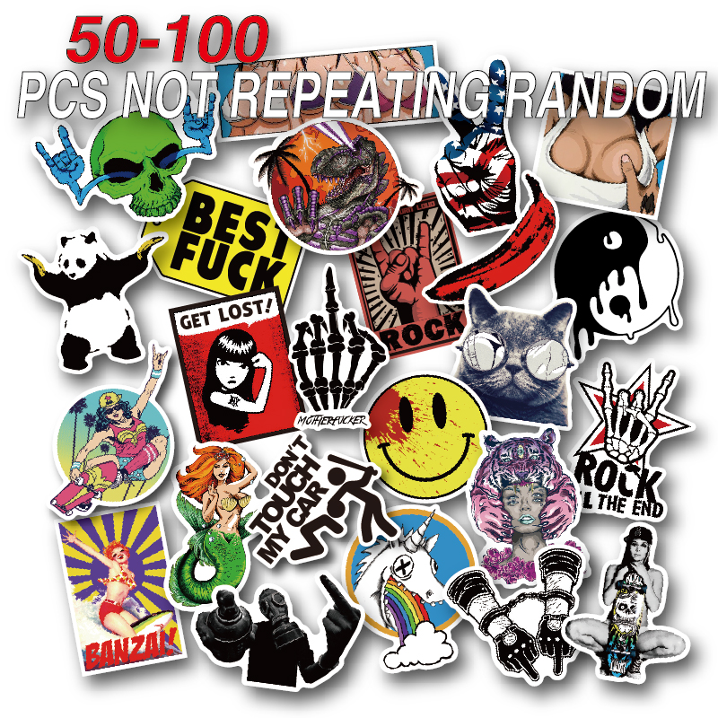 50-100 Pieces Do Not Repeat PVC Waterproof Fun Name Sticker Toys The Luggage Fashion Laptop Stickers Handbag Decoration Stickers vintage lady beauty luggage skateboard stickers pvc waterproof sunscreen car stickers 5 12cm laptop stickers