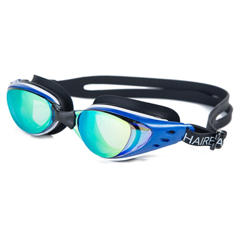 Men Women Myopia Electroplate Waterproof Swim Diopter Eyewear And Anti Fog UV Protection Goggles