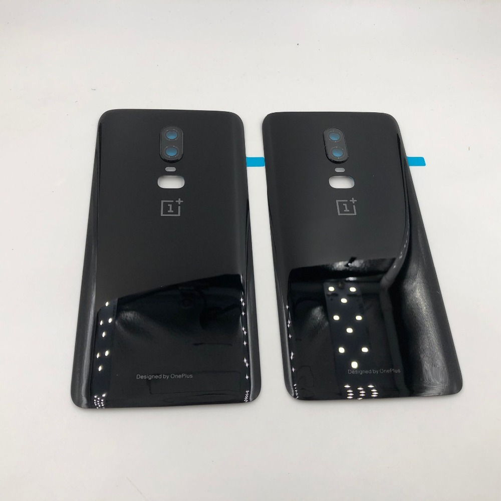 Original <font><b>3D</b></font> Glass For <font><b>Oneplus</b></font> <font><b>6</b></font> six Battery Door Case Back Cover Rear Phone Housing Case For One Plus <font><b>6</b></font> Replacement Parts image