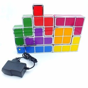 Image 5 - DIY Tetris Puzzle Light Stackable LED Desk Lamp Constructible Block Night Light Retro Game Tower Baby Colorful Brick Toy