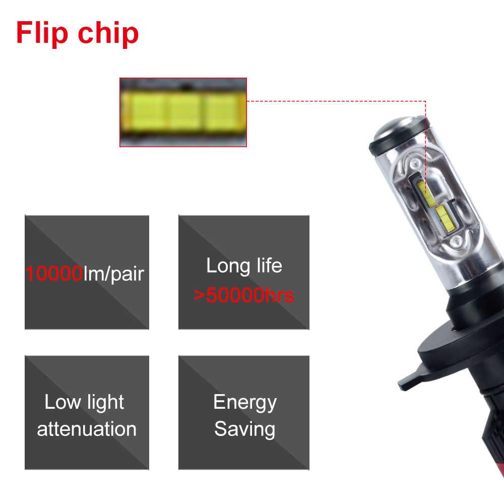AcooSun Led H4 H7 Luces Led Para Auto 70W 10000LM LED Car Headlight Bulbs Flip Chips LED H1 H11 Auto Phares Antibrouillard 6500K
