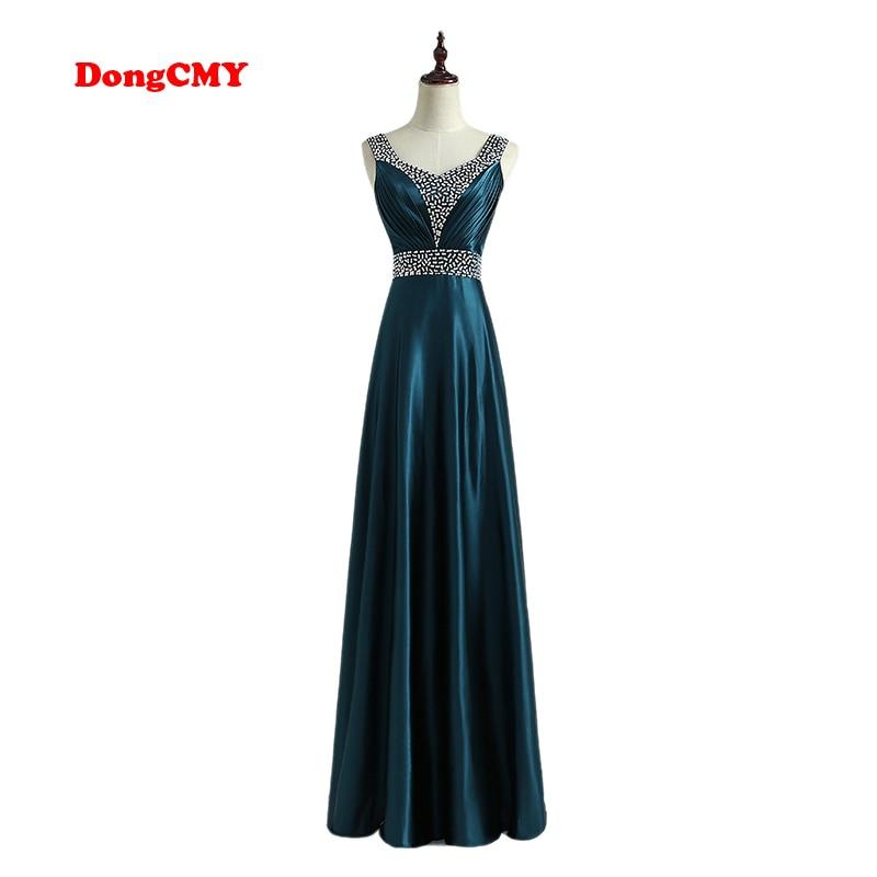 DongCMY 2019 Formal long   Evening     Dress   Vestido de Festa Longo V-Neck Fashion Robe de soiree Plus size Party Gown