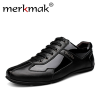 Luxury Brand Fashion Genuine Leather Men Shoes 2018 New Leather Men Casual Shoes High Quality Plus Size 36-48 Flat Shoes For Men 1