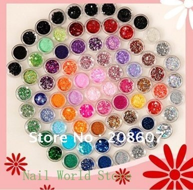 Nail essential ornaments Nail Jewelry Nail Glitter Nail Decoration And Color Laser Sequins Beads Mixed 80 Paragraph Freeshipping