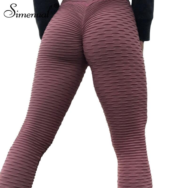 Simenual Ruching high waist push up leggings sportswear women clothing 2018 bodybuilding fitness legging athleisure jeggings hot