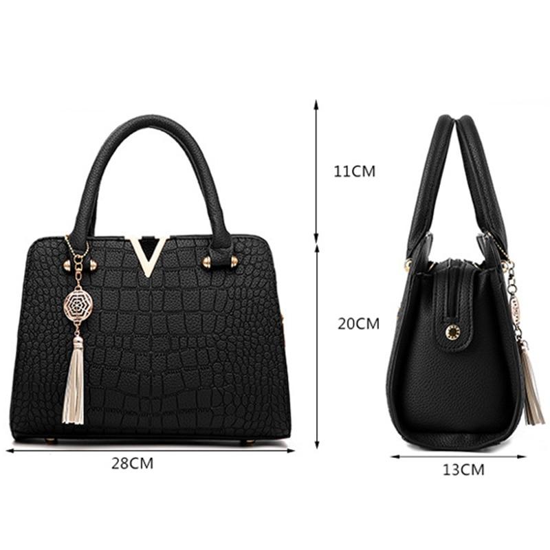 Image 5 - New Crocodile Pattern Women Bag Handbags Women Messenger Bags Crossbody Shoulder Bags Ladies Tassel Women Leather Handbags Hot-in Top-Handle Bags from Luggage & Bags