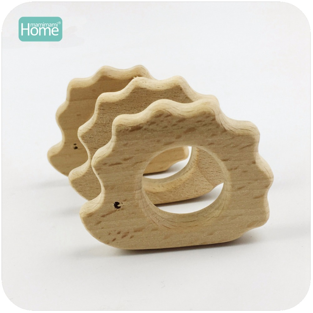 MamimamiHome Baby Rattles 10pc Wooden Hedgehog Porcupine Beech Wooden Toy For Children Play Gym Accessories Baby Educational Toy